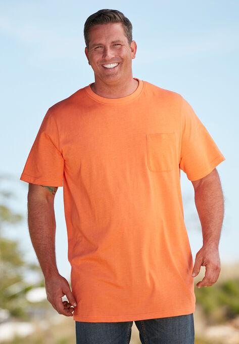 323f29fd5ed3 Shrink-Less™ Lightweight Longer-Length Crewneck Pocket T-Shirt, , alternate
