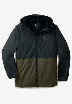 Dockers® Sherpa Lined Raincoat, BLACK OLIVE