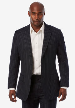 KS Signature Easy Movement® Two-Button Jacket, NAVY PINSTRIPE