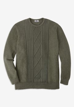Liberty Blues™ Crewneck Cable Knit Sweater,