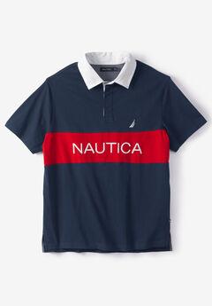 Nautica® Navtech Color Block Polo Shirt, NAVY