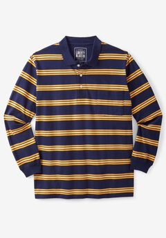Liberty Blues® Long-Sleeve Polo Shirt , GOLDEN YELLOW STRIPE