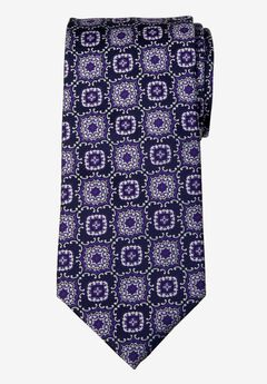 KS Signature Extra Long Classic Fancy Tie, PURPLE MEDALLION
