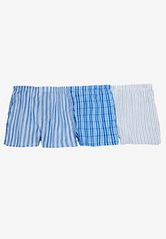 Assorted 3-Pack Boxers, ASSORTED BLUE