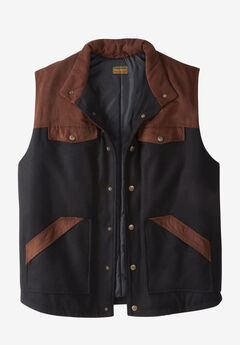 Plaid Multi-Pocket Vest by Boulder Creek®,
