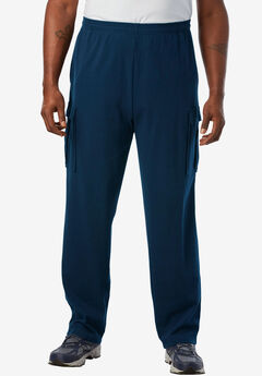 Lightweight Cargo Sweatpants, NAVY