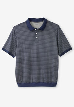 Printed Banded Bottom Polo,