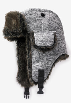 Extra Large Fur Trim Hat,