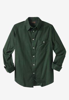 Solid Flannel Shirt by Boulder Creek®, FOREST GREEN
