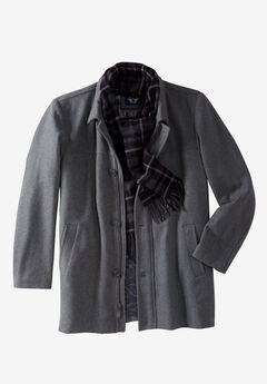 Walking Coat with Scarf by Dockers®, LIGHT GREY