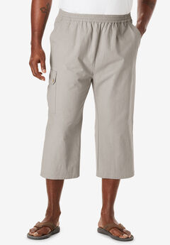 Judo Gauze Cotton Cargo Shorts with Full Elastic Waist,