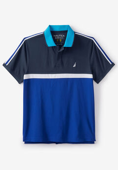 Nautica® Navtech Horizontal Colorblock Polo,