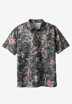 Floral Polo by KS Island™, NAVY FLORAL