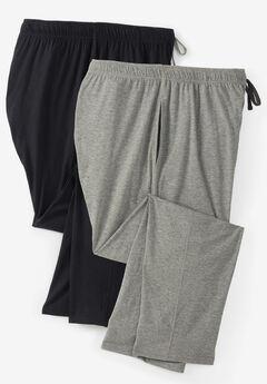 Hanes® 2-Pack Jersey Pajama Lounge Pants,