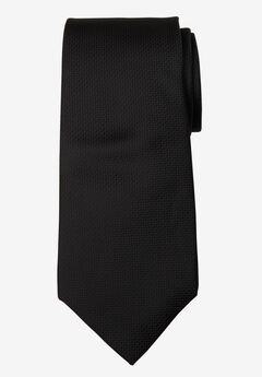 KS Signature Extra Long Classic Textured Tie, TRUE BLACK