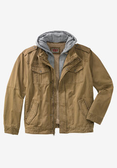 Canvas Hooded Military Jacket by Levi's®,