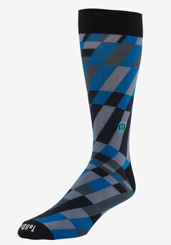 TallOrder: The Earl Sock, BLUE MODERN GRID