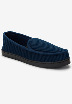 Cotton Corduroy Slippers, NAVY