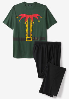 Holiday Pajama Set, ELF COSTUME