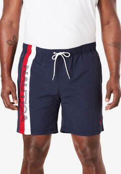 Nautica® Quick Dry Print Swim Shorts,
