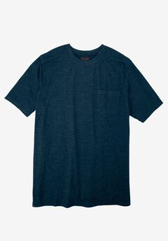 Heavyweight Crewneck Pocket Tee by Boulder Creek®, HEATHER NAVY