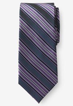 Classic Stripe Tie, SOFT PURPLE STRIPE