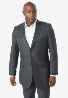 KS Signature Easy Movement® Two-Button Jacket, CHARCOAL WINDOW PANE