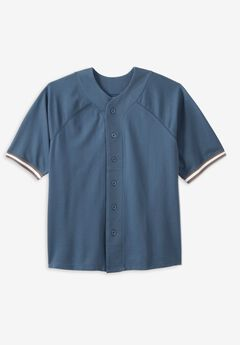 Liberty Blues™ Baseball Crewneck Shirt, SLATE BLUE