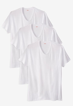 Hanes Stretch Cotton 3-pack V-Neck Undershirt,