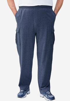 Lightweight Cargo Sweatpants, HEATHER SLATE BLUE