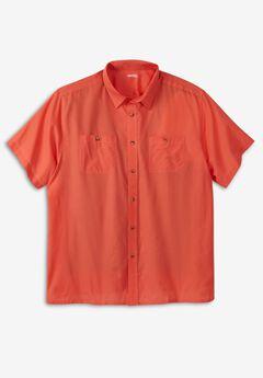 Short-Sleeve Pocket Sport Shirt,