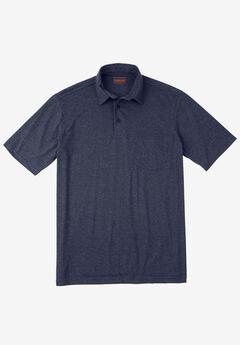 Heavyweight Jersey Polo Shirt, HEATHER NAVY