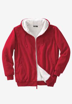 Explorer Fleece-Lined Hoodie, RED