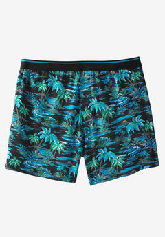 Patterned Boxers, BLACK PALM