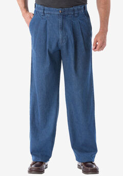 fdc1779070 Relaxed Fit Comfort Waist Pleat-Front Expandable Jeans