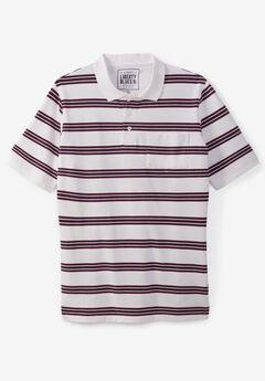 Liberty Blues® Pocket Piqué Polo Shirt, RUSSET STRIPES