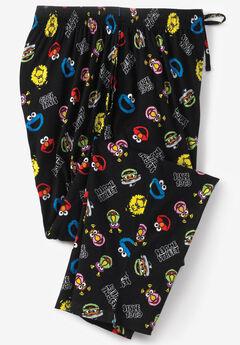 Licensed Novelty Pajama Pants, SESAME STREET FRIENDS
