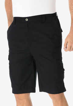 "10"" Canyon Cargo Shorts, BLACK"