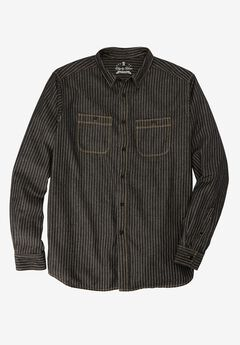 Long-Sleeve Utility Shirt by Liberty Blues®, RAILROAD BLACK DENIM