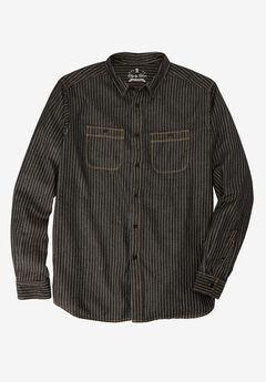 Long-Sleeve Utility Shirt by Liberty Blues®, RAILROAD BLACK DENIM