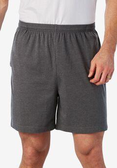 Lightweight Basic Shorts, HEATHER SLATE