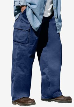 Boulder Creek® Renegade Cargo Pants with Side Elastic, NAVY