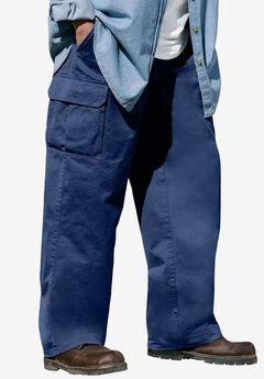 Boulder Creek® Renegade Cargo Pants with Side Elastic, NAVY