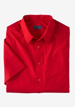 No Hassle® Short-Sleeve Dress Shirt by KS Signature®, RED