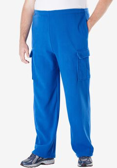Explorer Fleece Cargo Pants, ROYAL BLUE