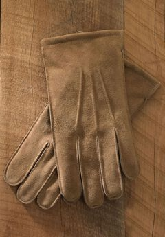 Suede Gloves , TAN