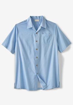 KS Island™ Woven Camp Shirt, AZURE BLUE STRIPE