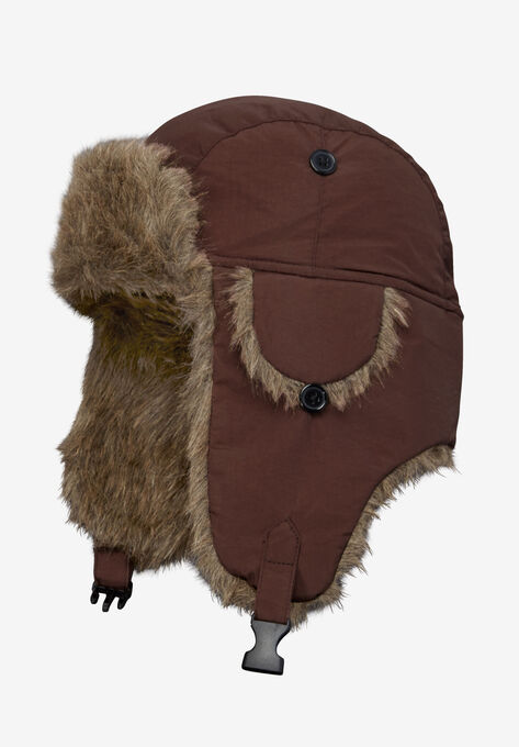 7d027e4fb106f1 Extra Large Fur Trim Hat| Big and Tall Hats, Gloves, & Scarves ...