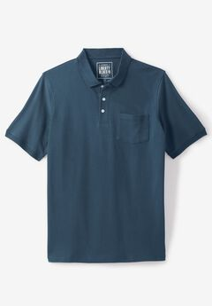 Liberty Blues® Pocket Piqué Polo Shirt, BLUE INDIGO