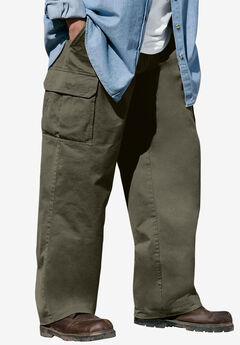 Boulder Creek® Side-Elastic Waist Cargo Pants,